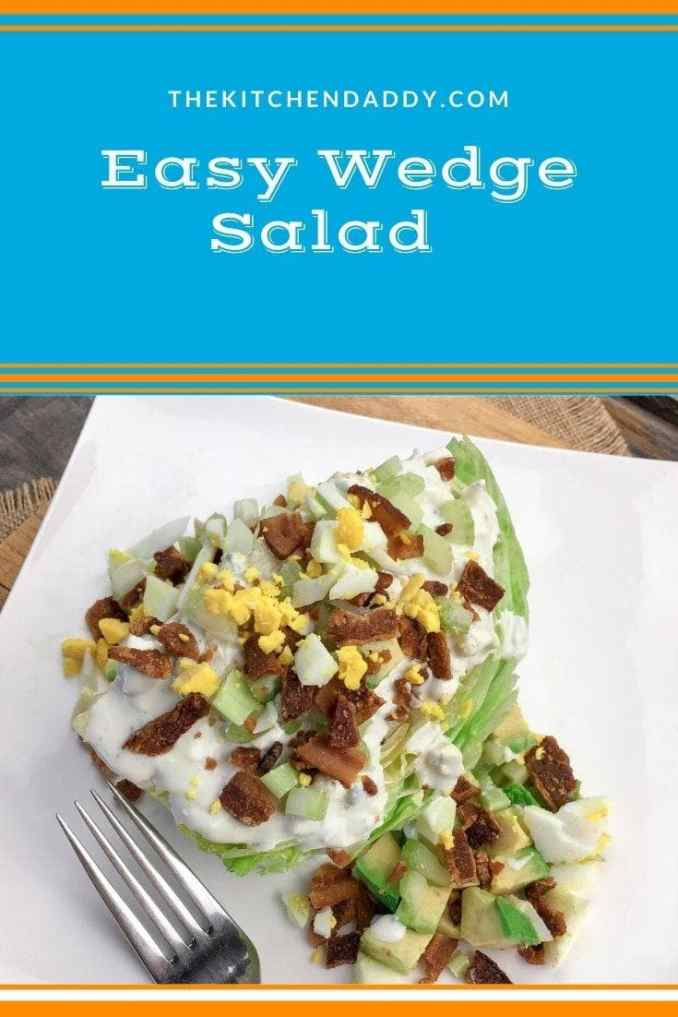 Easy Wedge Salad with Homemade Blue Cheese Dressing Recipe