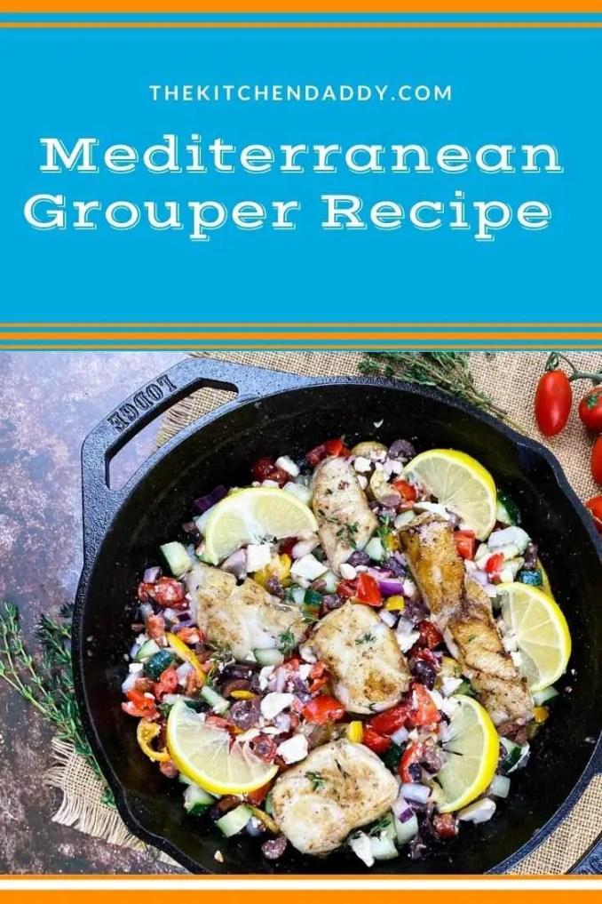 Mediterranean Grouper with Tomato-Cucumber Salad