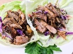 Slow Cooker Pulled Pork Lettuce Wraps Recipe