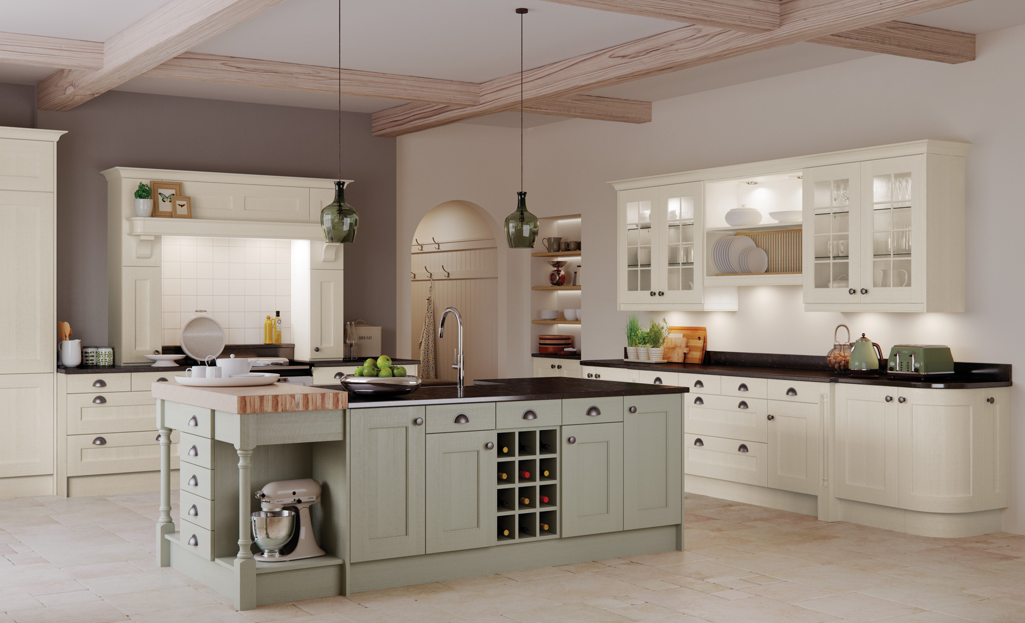 Washington In Ivory And Sage Green The Kitchen Depot