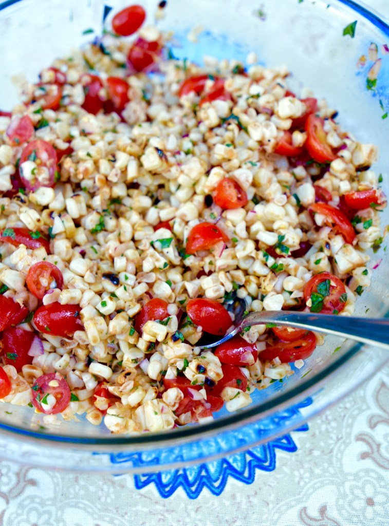 Grilled Corn + Cherry Tomato Salad
