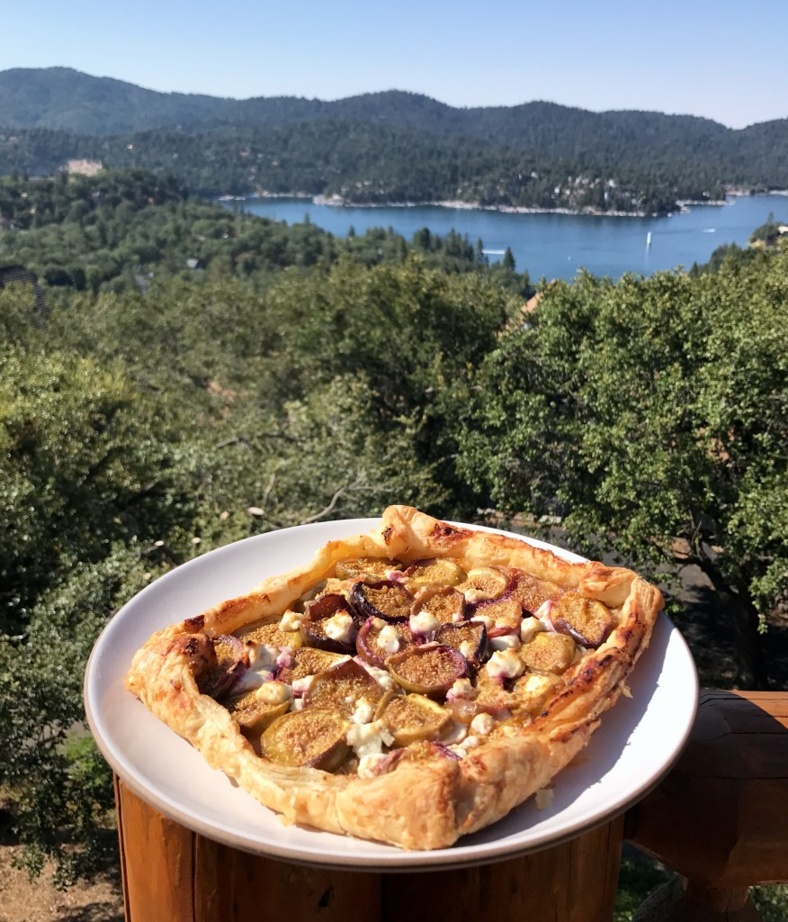 Fig, Caramelized Onion + Goat Cheese Tart