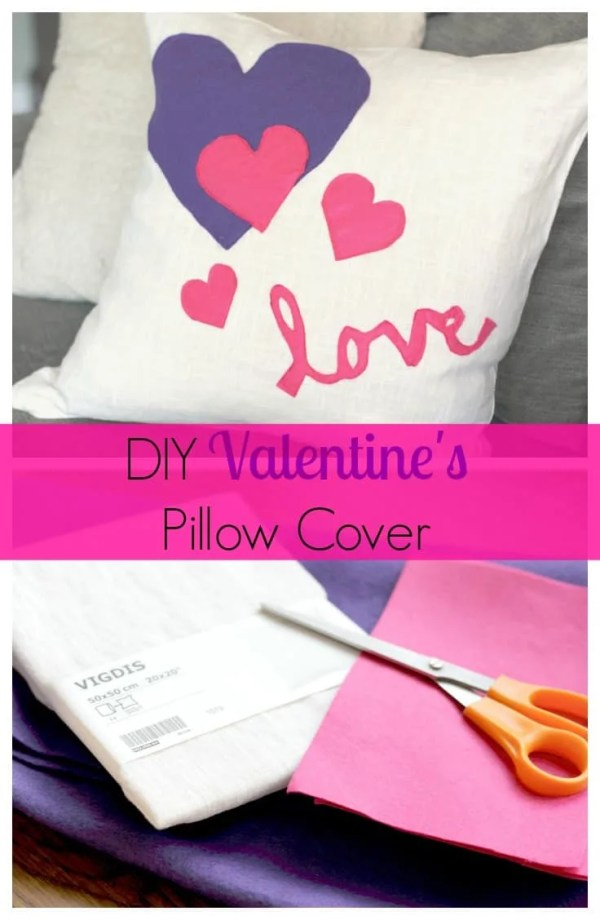 DIY Valentine's Pillow Cover