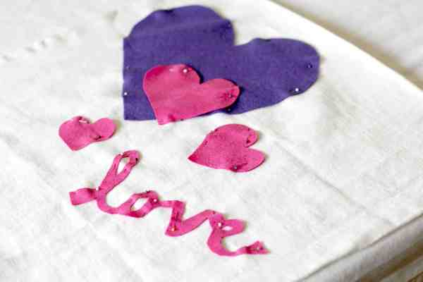 flat heart pillowcase