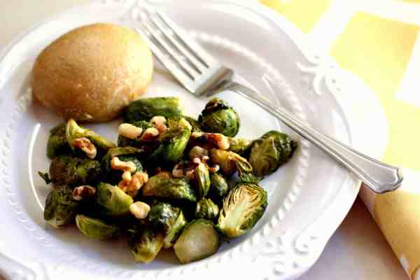 maple roasted brussel sprouts