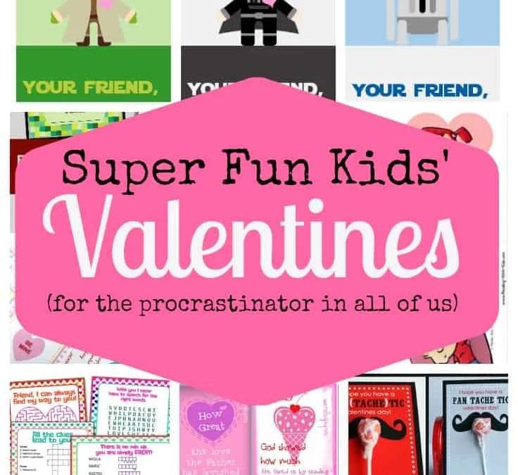 Super Fun Kids' Valentines (Free Printables!)