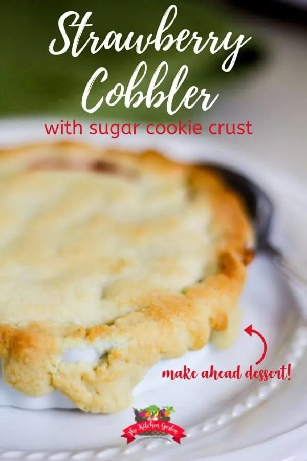 Strawberry Cobbler with Sugar Cookie Crust