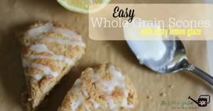 Easy Scones with Zesty Lemon Glaze