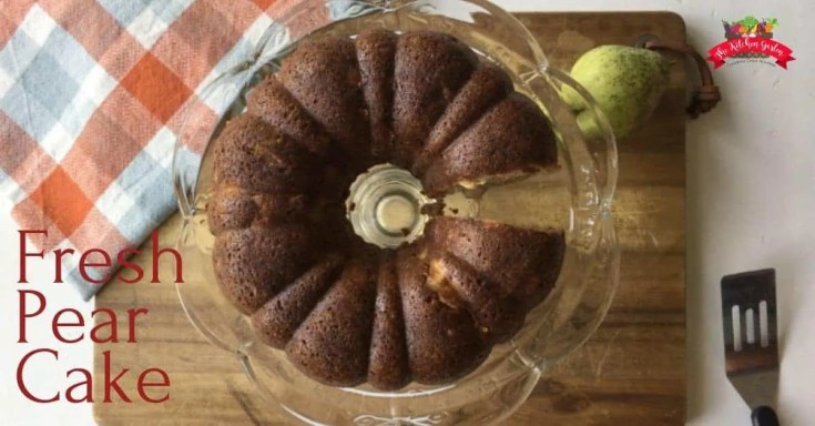 Fresh Pear Cake (and it's whole grain!)