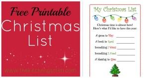 Christmas List FB