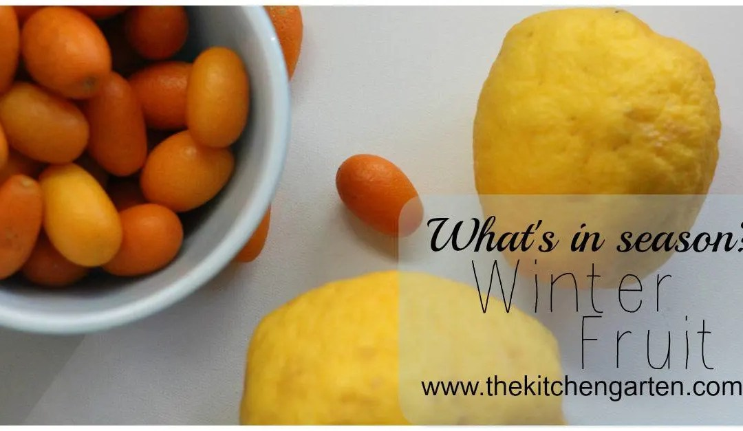 What's in season: Winter Fruit