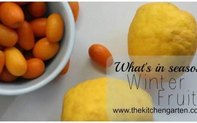 What's in season: Winter Fruit
