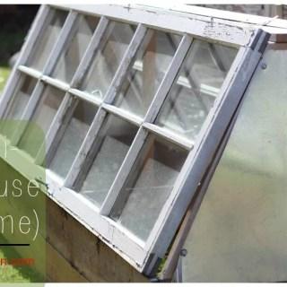 DIY Mini Greenhouse (Cold frame)