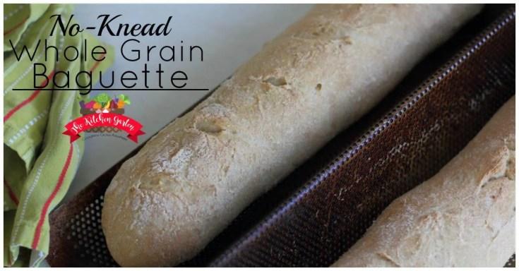 No-Knead Whole Wheat Baguette