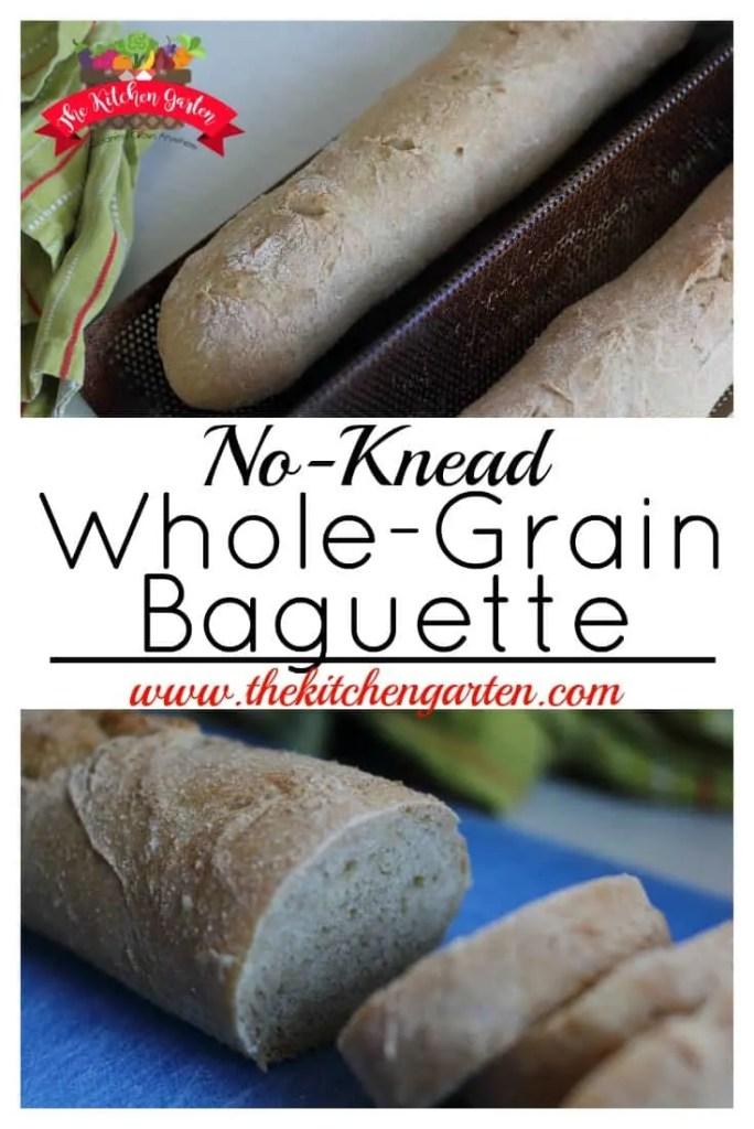 no knead baguette
