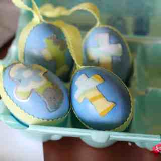 Easy Mod Podge Easter Eggs