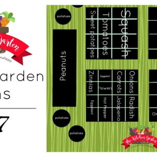 2017 Spring Kitchen Garden Plans
