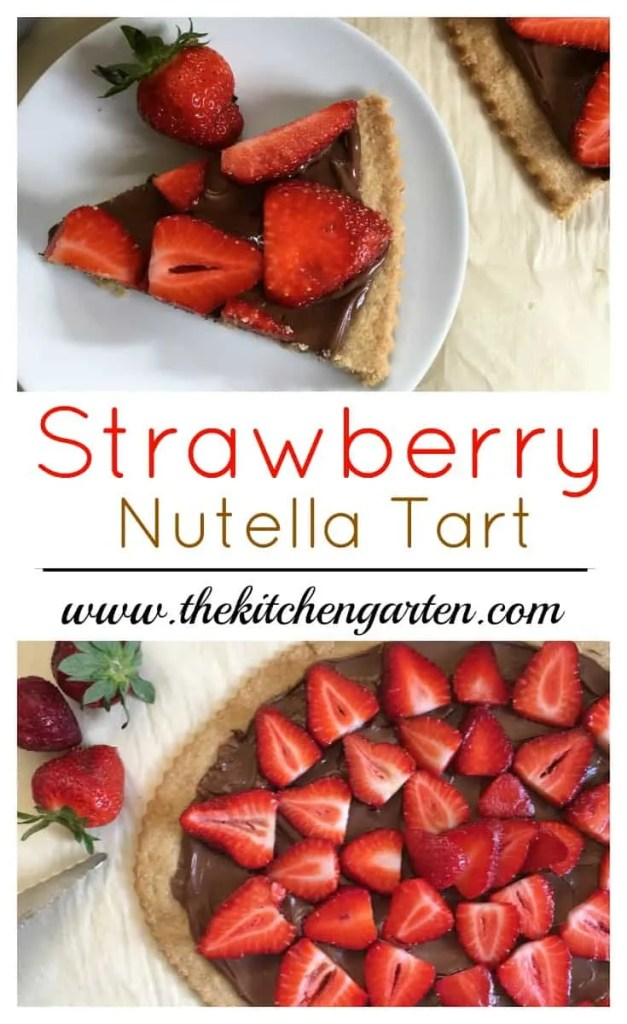 strawberry nutella tart