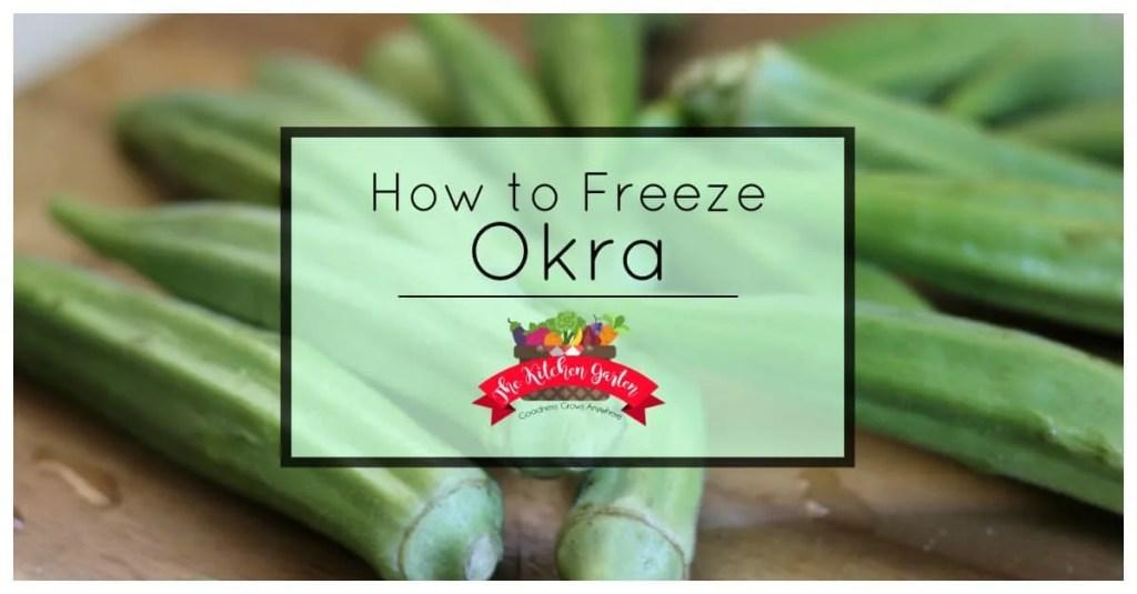 freeze fresh okra
