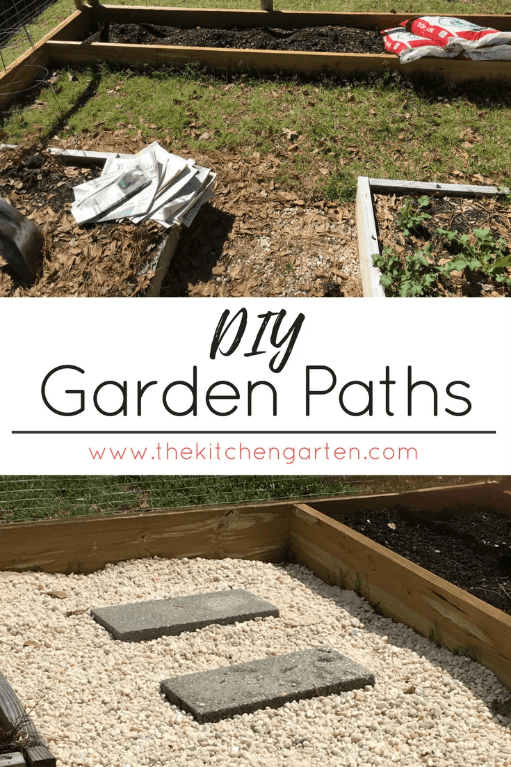 Creating paths in the garden doesn't have mean tedious hours of laying pavers. Here's an easy and elegant way to create paths in just a day!