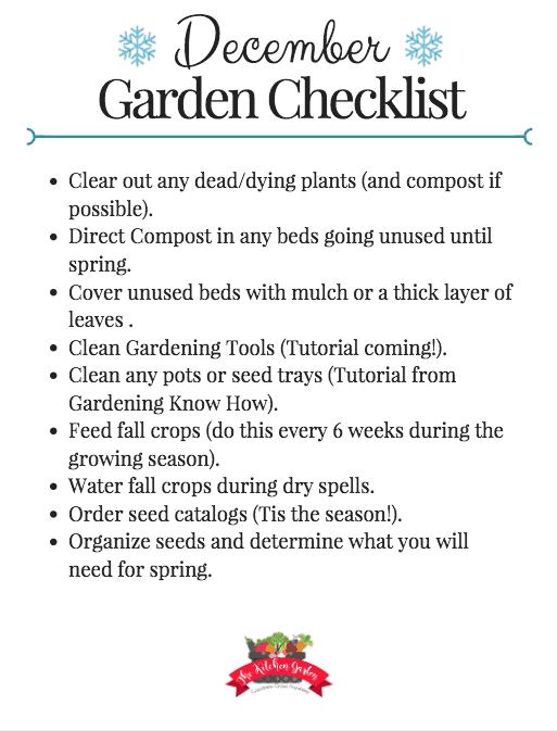 December Garden Checklist
