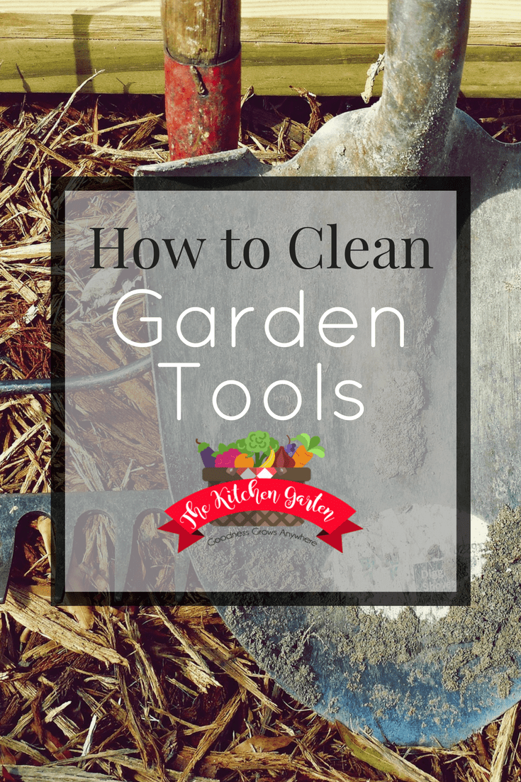 Cleaning garden tools can extend their life and make gardening life much easier. Use these easy steps to quickly clean garden tools. #gardening