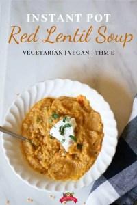 red lentil soup white bowl