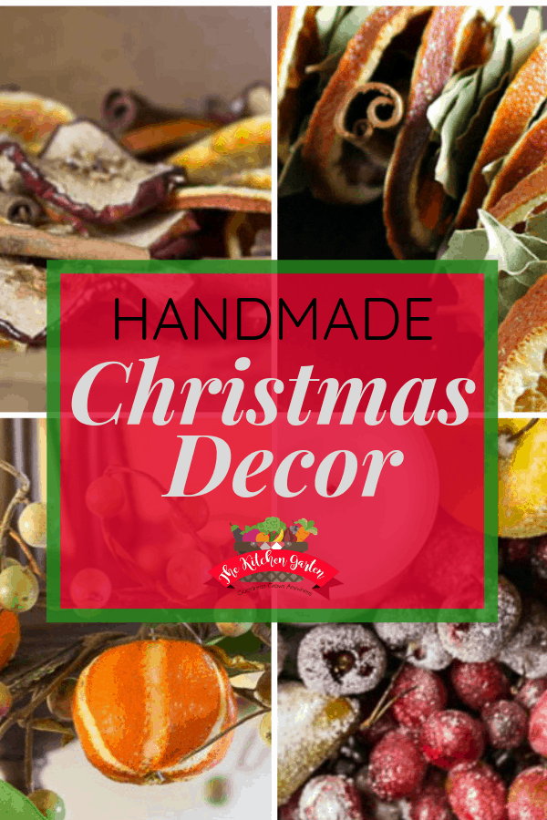 Handmade Christmas decorations use what is naturally available in your own yard (or your neighbor's) to create beautiful holiday decor! #Christmas #handmade #DIY