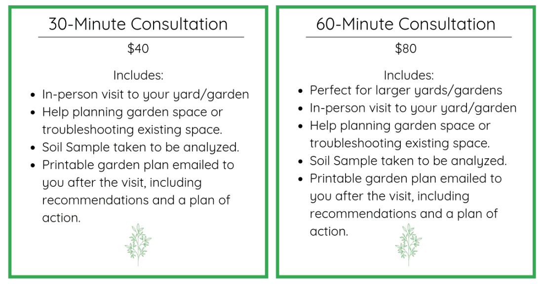 Garden consultation plans