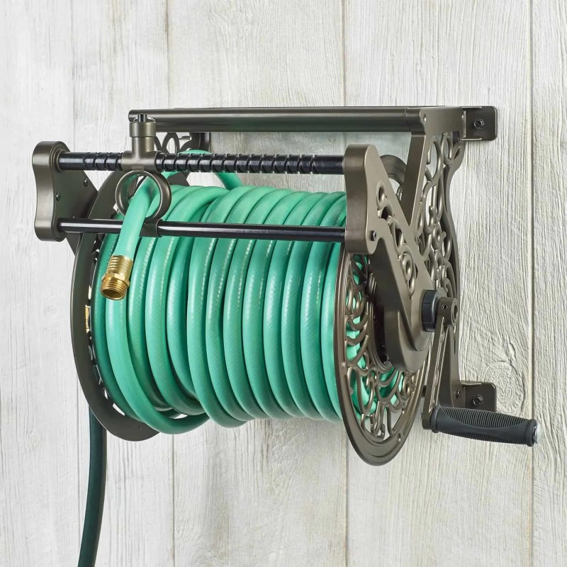 liberty garden wall mount hose reel with guide
