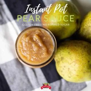 Instant Pot Pear Sauce