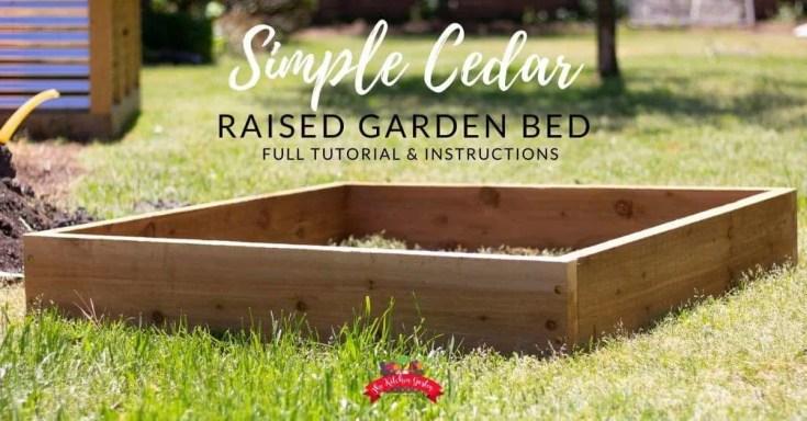 How to Build a Cedar Raised Garden Bed