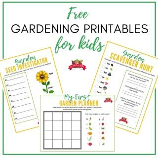 Free Kids Gardening Printables