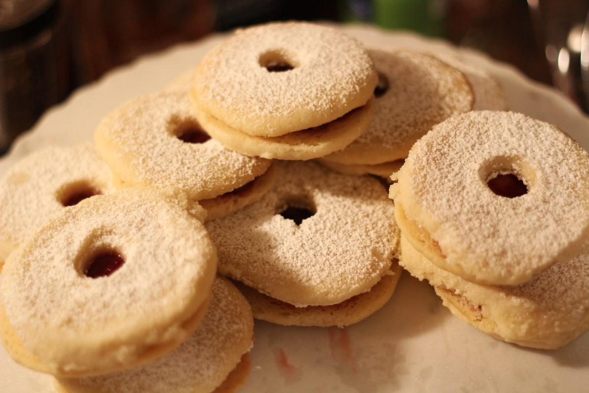 Lingonberry Linzer Cookies - The Kitchen Gent