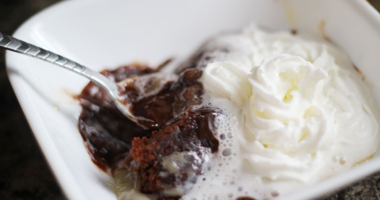 Gooey Cheesecake Brownie Pudding