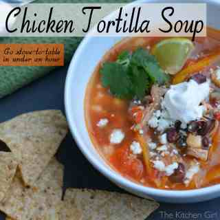 Stove-To-Table Chicken Tortilla Soup