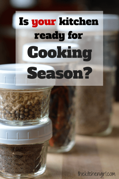 Is Your Kitchen Ready For Cooking Season? 8 kitchen organizing tips and suggested systems to help manage your ingredients and make the most of your space. thekitchengirl.com