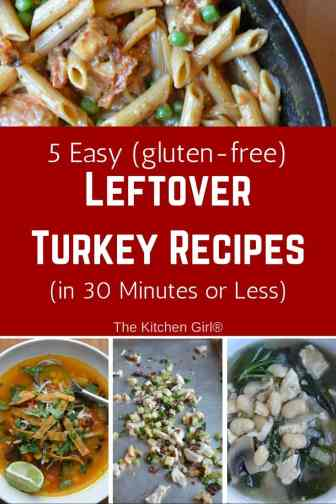 Turn your holiday turkey leftovers into a delicious soup, salad, rice, or pasta with these 5 easy leftover turkey recipes in 30 minutes or less. gluten-free! thekitchengirl.com