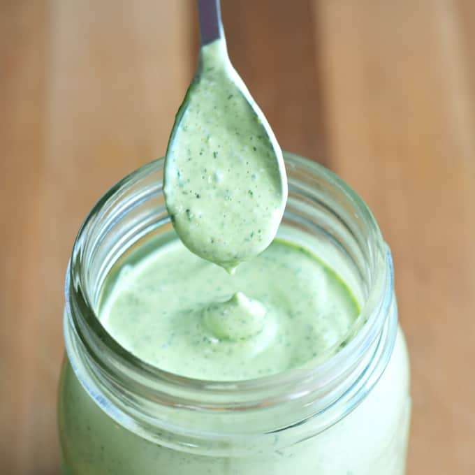 Creamy Avocado Ranch Dressing and Dip