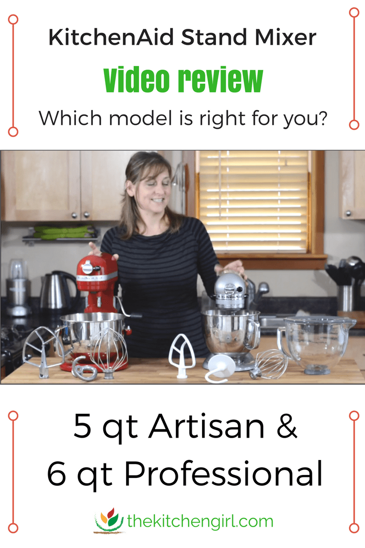 KitchenAid Stand Mixer Artisan vs Professional Video Review