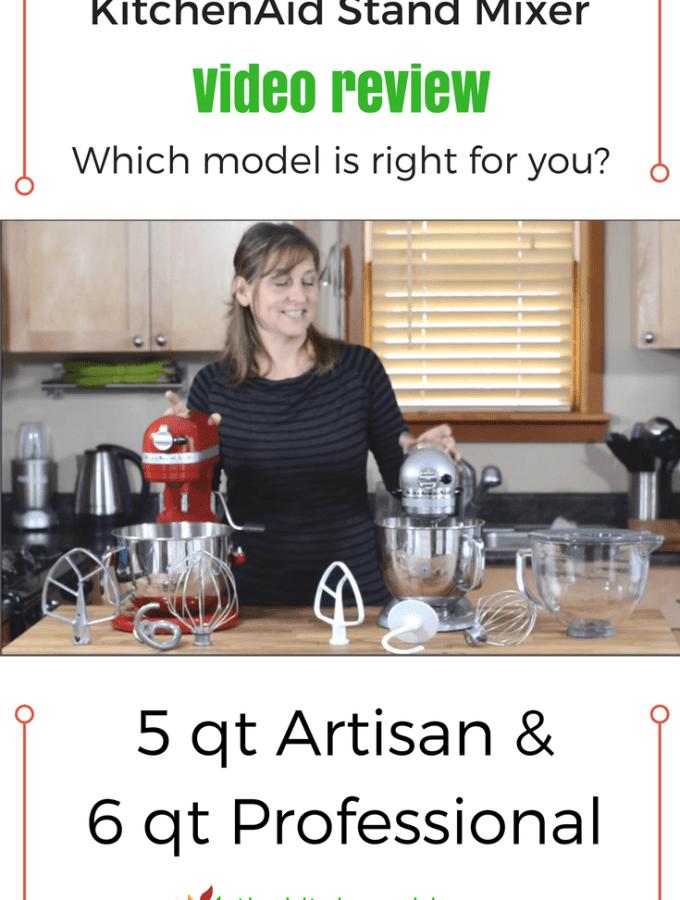 KitchenAid Stand Mixer Video Review: Artisan vs Professional