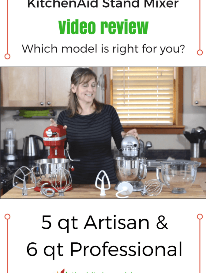 Side by side KitchenAid Stand Mixer Video Review helps you compare and decide best size and features for your needs. 5 qt Artisan vs 6 qt Professional. thekitchengirl.com