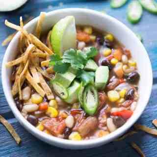 Southwest Vegan Tortilla Soup
