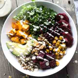Turmeric Chickpea Beetroot Hippie Bowl