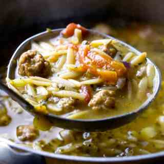 Whole Wheat Orzo Sausage Soup
