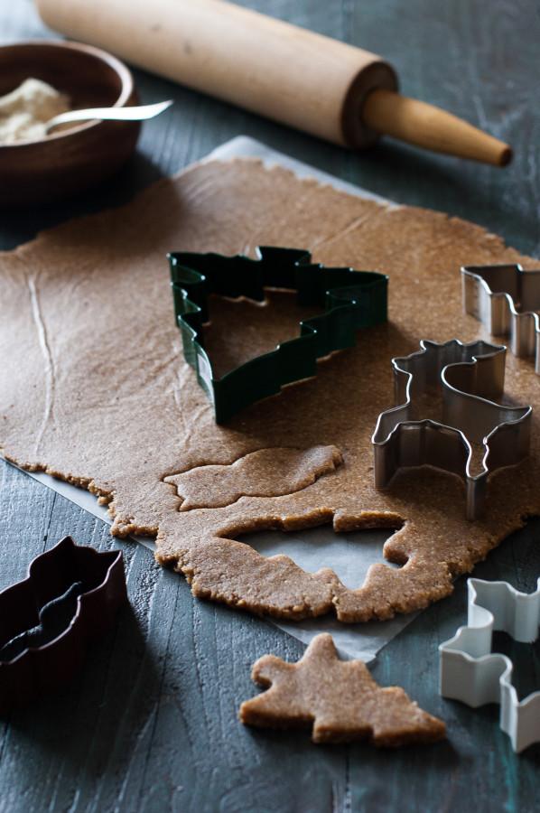 Las cookies pasado de moda del pan de jengibre