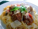 Jamie Oliver meatballs and pasta