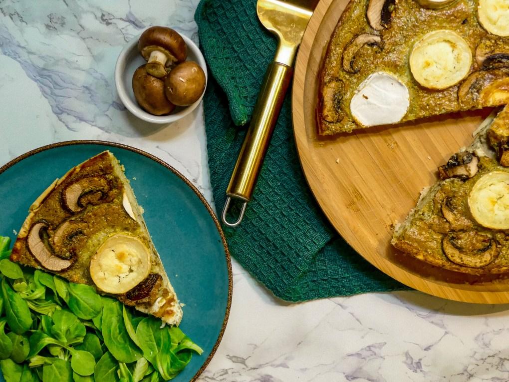 Quiche pesto chèvre champignons (2)