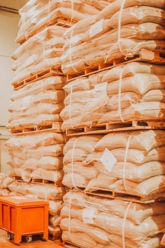 Les stockages de fèves de cacao