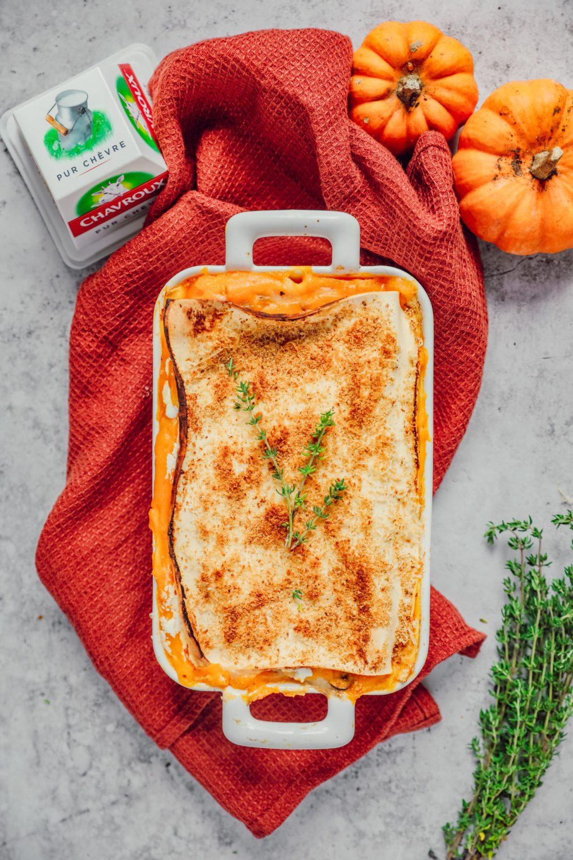 Lasagnes au butternut, champignons et chèvre (2)